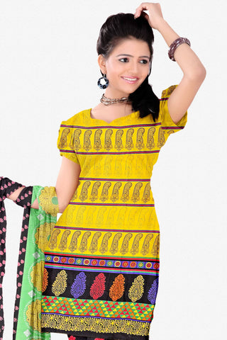 Designer Straight Cut:atisundar appealing Yellow Designer Party Wear Straight Cut - 13279