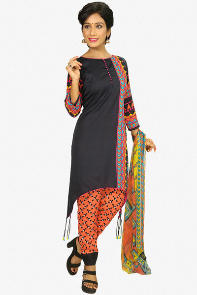 Designer Straight Cut:atisundar cute Black Designer Party Wear Straight Cut - 13281 - click to zoom