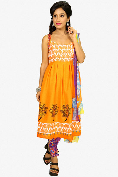 Designer Straight Cut:atisundar Attractive Orange Designer Party Wear Straight Cut - 13283 - click to zoom