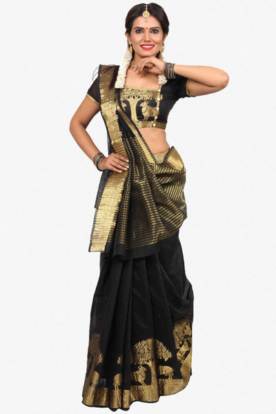 Designer Saree:atisundar excellent Designer Party Wear Saree in Black  - 14281 - click to zoom