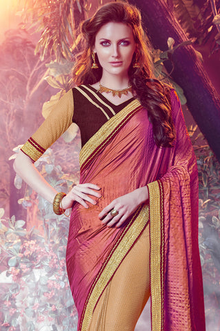Designer Sarees:atisundar Awesome Designer Party Wear Saree with Border in Multi  - 12072 - atisundar - 4