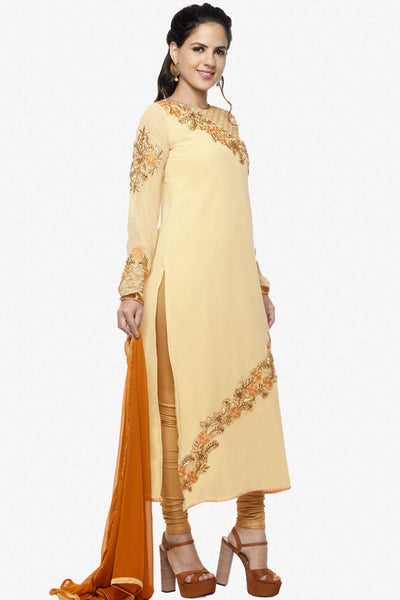 Designer Straight Cut:atisundar delightful Yellow Designer Embroidered Straight Cut Featuring Karishma Kapoor - 12728 - click to zoom