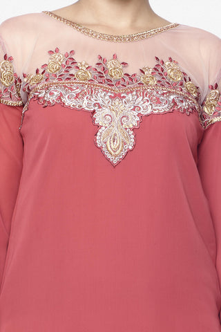 Designer Lehenga:atisundar resplendent Embroidered Faux Georgette Designer Party Wear Embroidered Lehenga Featuring Karishma Kapoor in Pink - 12731