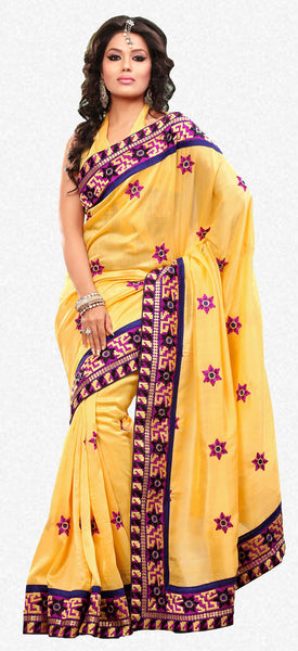 atisundar Superb Yellow Colored Saree - atisundar - 2 - click to zoom