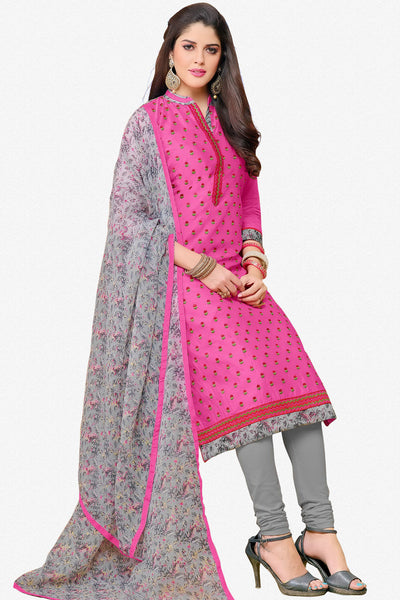 Designer Straight Cut:atisundar charming Pink Designer Party Wear Straight Cut in Faux Chanderi - 12360 - atisundar - 2 - click to zoom