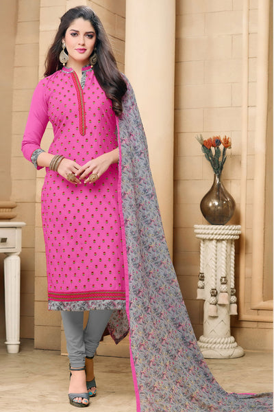 Designer Straight Cut:atisundar charming Pink Designer Party Wear Straight Cut in Faux Chanderi - 12360 - atisundar - 4 - click to zoom