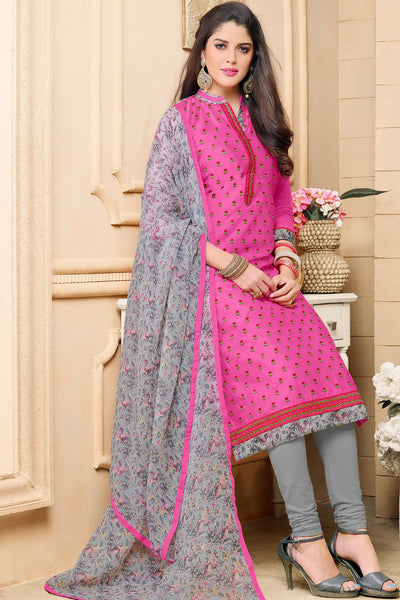 Designer Straight Cut:atisundar charming Pink Designer Party Wear Straight Cut in Faux Chanderi - 12360 - atisundar - 5 - click to zoom