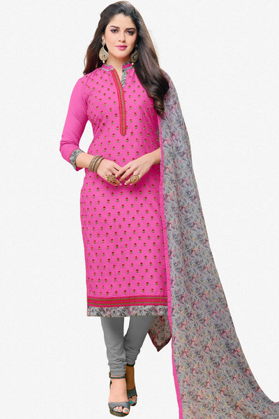 Designer Straight Cut:atisundar charming Pink Designer Party Wear Straight Cut in Faux Chanderi - 12360 - atisundar - 1 - click to zoom
