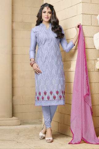 Designer Straight Cut:atisundar angelic Sky Blue Designer Party Wear Straight Cut in Faux Chanderi - 12362 - atisundar - 6
