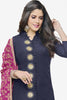 Designer Straight Cut:atisundar enticing Dark Blue  Designer Party Wear Straight Cut in Faux Chanderi - 12363 - atisundar - 2 - click to zoom