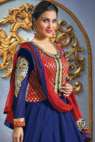 Lara Dutta Collection:atisundar Smart   in Blue And Red - 4965 - atisundar - 3