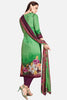 Embroidered glaze Satin with digital print:atisundar refined Green print with embroidered - 14993 - click to zoom