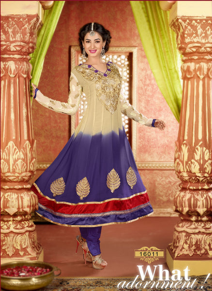 atisundar Archana: Semi stitched Anarkali In Beige - 3734 - atisundar - 2 - click to zoom