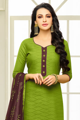 Designer Straight Cut:atisundar Superb Green Designer Embroidered Suit - 14524