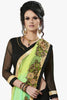 Designer Party wear Saree:atisundar Awesome Party wear Sarees with designer blouses and embroidered border in Green And Black  - 10752 - atisundar - 2 - click to zoom