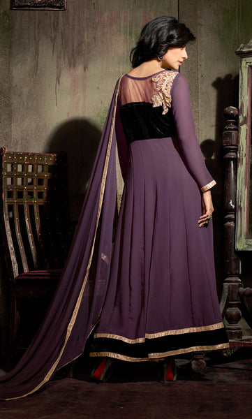 Designer Embroidered Suit:atisundar Superb Purple Designer Embroidered Suits - 8366 - atisundar - 4 - click to zoom