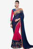 Designer Saree:atisundar radiant Designer Party Wear Saree in Blue And Pink  - 13522 - click to zoom