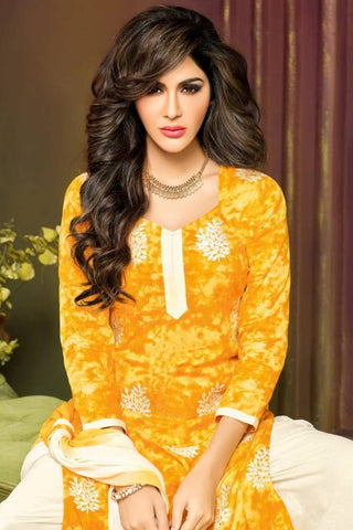 Designer Straight Cut:atisundar stunning Yellow Designer Party Wear Straight Cut - 13167