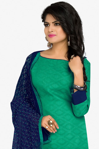 Designer Straight Cut:atisundar Great Green Designer Party Wear Straight Cut in Cotton - 12393 - atisundar - 2