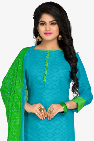 Designer Straight Cut:atisundar angelic Blue Designer Party Wear Straight Cut in Cotton - 12394 - atisundar - 2