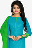 Designer Straight Cut:atisundar angelic Blue Designer Party Wear Straight Cut in Cotton - 12394 - atisundar - 2 - click to zoom