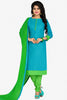 Designer Straight Cut:atisundar angelic Blue Designer Party Wear Straight Cut in Cotton - 12394 - atisundar - 1 - click to zoom