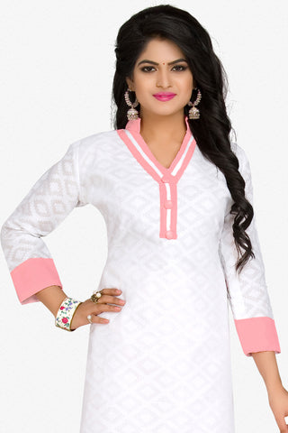Designer Straight Cut:atisundar marvelous White Designer Party Wear Straight Cut in Cotton - 12395 - atisundar - 2