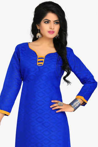 Designer Straight Cut:atisundar fair Blue Designer Party Wear Straight Cut in Cotton - 12396 - atisundar - 2