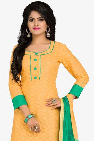 Designer Straight Cut:atisundar charming Yellow Designer Party Wear Straight Cut in Cotton - 12398 - atisundar - 2