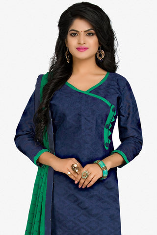 Designer Straight Cut:atisundar marvelous Blue Designer Party Wear Straight Cut in Cotton - 12402 - atisundar - 2