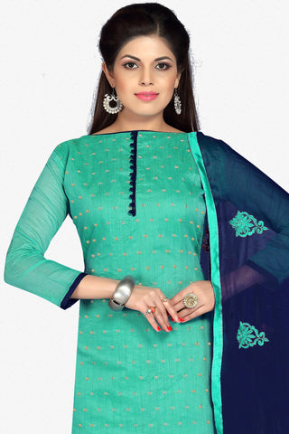 Designer Straight Cut:atisundar Charismatic Green Designer Party Wear Straight Cut in Faux Chanderi - 12407 - atisundar - 2