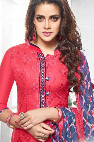 Designer Straight Cut:atisundar pretty Red Designer Party Wear Straight Cut - 13169
