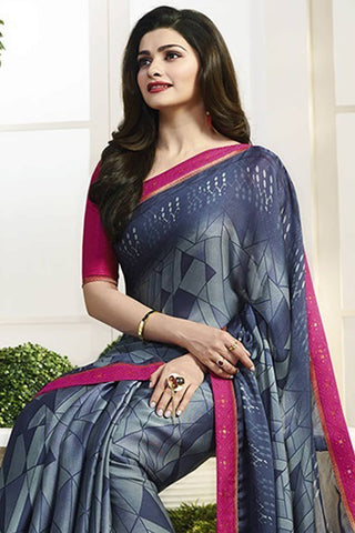 Designer Saree:atisundar angelic Designer Party Wear Saree Featuring Prachi Desai in Blue  - 13732