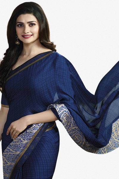 Designer Saree:atisundar enticing Designer Party Wear Saree Featuring Prachi Desai in Blue  - 13734 - click to zoom