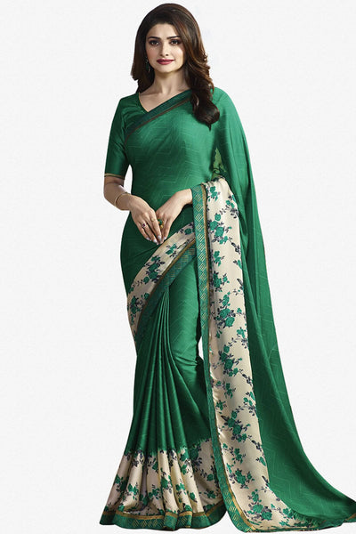 Designer Saree:atisundar appealing Designer Party Wear Saree Featuring Prachi Desai in Green  - 13737 - click to zoom