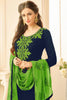 Designer Straight Cut:atisundar Smart Blue Designer Party Wear Straight Cut - 13172 - click to zoom