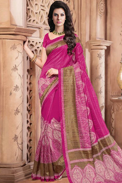 Designer Sarees:atisundar bewitching Designer Party Wear Sarees in Pink  - 12456 - atisundar - 3 - click to zoom