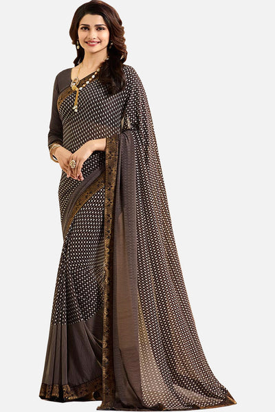 Casual Designer Fancy Georgette With Print:atisundar stunning Designer Printed Daily Desires In Faux Georgette in Grey  - 14950 - click to zoom