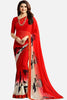 Casual Designer Fancy Georgette With Print:atisundar graceful Designer Printed Daily Desires In Faux Georgette in Red  - 14956 - click to zoom