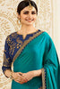Designer Saree With Embroidered Blouse:atisundar delightful Designer Party Wear Saree Featuring Prachi Desai in Blue  - 15127 - click to zoom