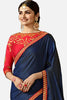 Designer Saree With Embroidered Blouse:atisundar cute Designer Party Wear Saree Featuring Prachi Desai in Blue  - 15133 - click to zoom