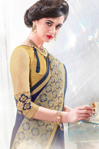 Designer Saree:atisundar gorgeous Designer Party Wear Saree in Blue  - 12899