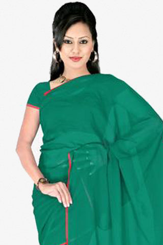 atisundar Lovely Green Colored Saree