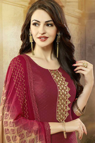 Designer Straight Cut:atisundar appealing Maroon Designer Party Wear Straight Cut - 13177 - click to zoom