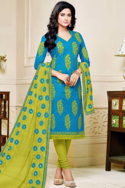 Designer Straight Cut:atisundar lovely Blue Designer Party Wear Straight Cut - 13475 - click to zoom