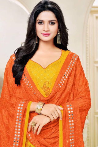 Designer Straight Cut:atisundar fascinating Yellow Designer Party Wear Straight Cut - 13476