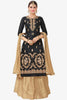 Designer Lehenga:atisundar cute Embroidered Glazed Cotton Designer Embroidered Party Wear Lehenga in Black - 12756 - click to zoom