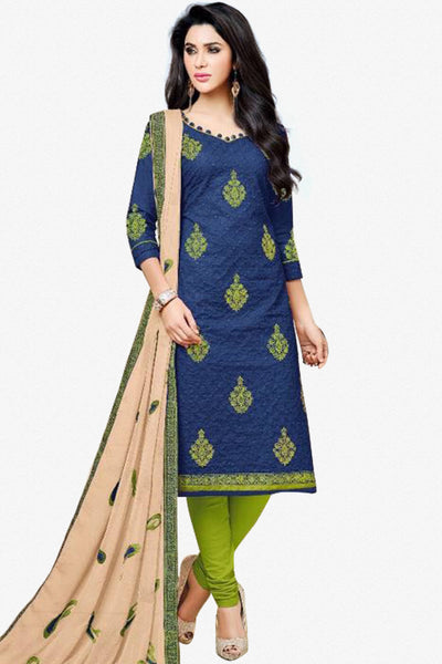 Designer Straight Cut:atisundar fascinating Blue Designer Party Wear Straight Cut - 13477 - click to zoom