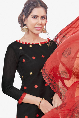 Designer Straight Cut:atisundar appealing Black Designer Straight Cut  - 12544