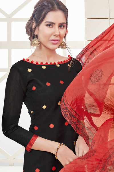Designer Straight Cut:atisundar appealing Black Designer Straight Cut  - 12544 - click to zoom
